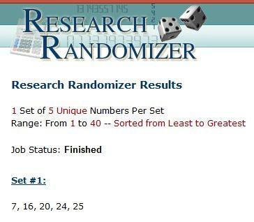 Randomizer concours 20ans